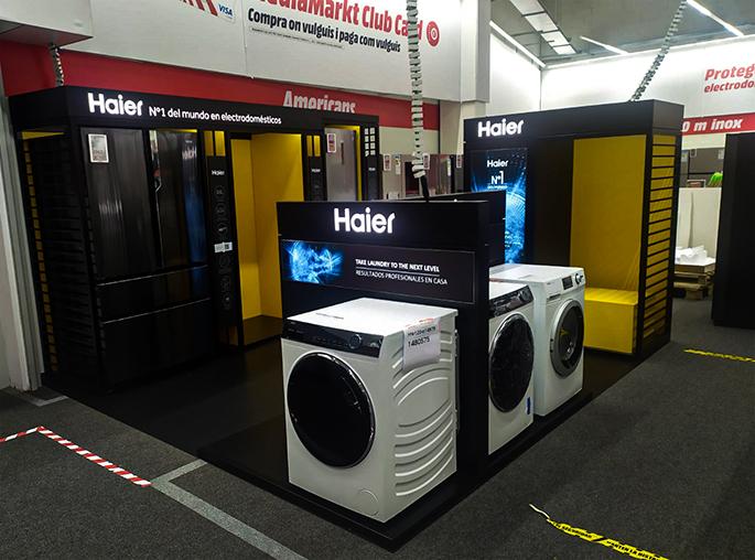 Tienda dentro de otra tienda. Haier numero 1 del mundo en electrodomesticos Shop in shop en barcelona