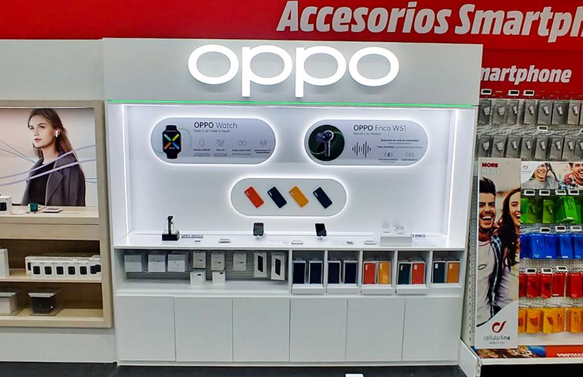 Diseño y montaje de Shop in shop para OPPO. Qué es el shop in shop. Casos de éxito de RC Projects