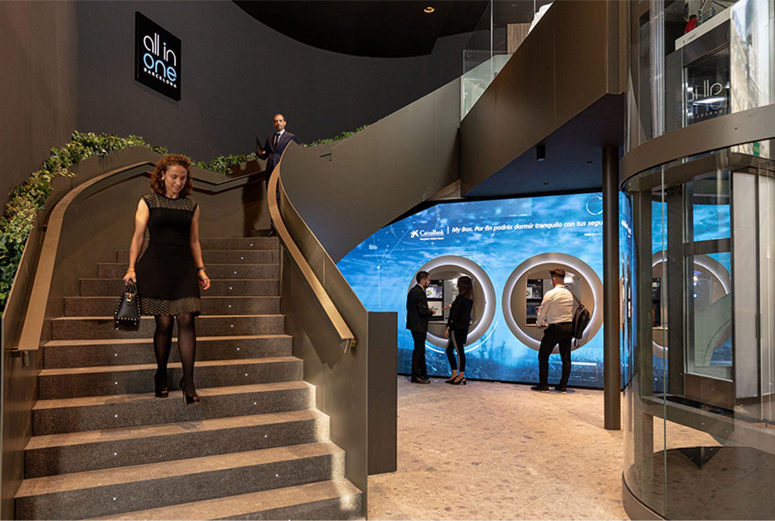 All in one Caixa Bank, ejemplo de espacios multifuncionales en barcelona